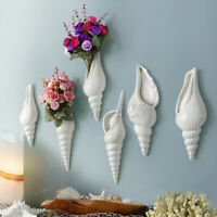 Conch Sea Shell Ceramic Flower vase Hydroponic Plant Bottle for Wall Decor Art !