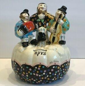 Noi Volkov Jewish Art Ceramic Sculpture Piggy Pumpkin Bank