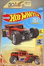 2018 Hot Wheels #334 HW 50th Race Team 1/10 BONE SHAKER Red w/50th Dish Slot Sp