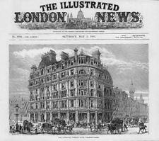 1883 Antique Print - LONDON Charing Cross National Liberal Club (29)