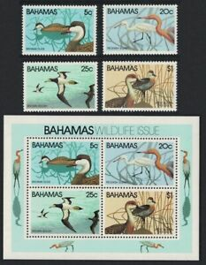 Bahamas Pintail Egret Booby Whistling Duck Birds 4v+MS 1981 MNH
