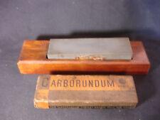 Old Vtg Carborundum Brand Wood Wooden Sharpening Stone Niagara Falls, NY