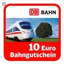 10 EUR Gutschein eCoupon DB Deutsche Bahn - auch ohne Paydirekt - Schnellversand