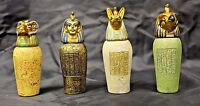 Egyptian Canopic Jars A covered Urn used in Ancient Egyptian Set of 4 Free S&H