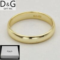 DG Men's Womens 925 Sterling Silver.Gold,Band Rings,Wedding 6 7 8,9,10,11,12 Box