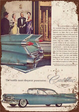Metal Tin Sign old car cadillac Pub Home Vintage Retro Poster Cafe ART