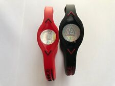 2 PCS  BLACK & RED  Power Balance Energy Health Band Bracelet XS,S,M,L,XL