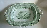 Antique transferware bowl tureen serving vegetable dish GRECIAN England 1898