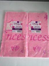 Disney Princess Crown & Hearts Paper Tablecloth Birthday Party Decoration 2 pkgs