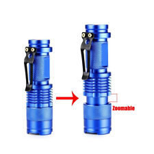 Portable  Q5 LED 1200 Lumen Zoomable Flashlight Torch Lamp Blue 3 Modes  Newest