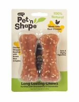 Pet 'n Shape Long Lasting Chicken Chewz Natural Dog Treats, Bone, 4-Inch, ..