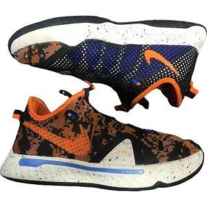"""Nike PG4 Basketball Shoes Digi Camo """"Light Cream/Orange"""" Size 9.5"""