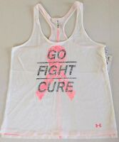 Women's Under Armour Heat Gear Breast Cancer Power In Pink Semi-Fitted Tank Top