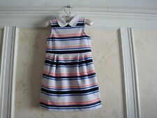 NWT Janie And Jack  Janie's Hideaway Girls STRIPED PONTE DRESS 4 4T
