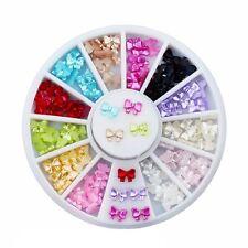Bowknot Nail Decor Phone Paste Drill Multicolor Round Diamond Rhinestones