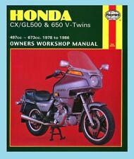 MAN442 Haynes Workshop Manual for HONDA CX GL CX500 GL500 CX650 & GL650 1978-86