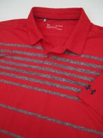 Mens Large Under Armour Playoff Polo red golf athletic shirt