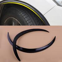 2x Flare Car Wheel Fender Arch Guard Trim Strip Anti-rub Wheel Eyebrow Protector