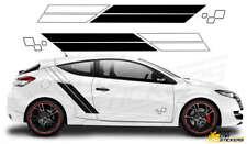 Fits Renault Megane Trophy Sports Racing Side Stripes Car Stickers