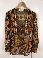 RICK CARDONA Damen Bluse/Shirt, Größe 40, Mehrfarbig, mit Muster, sehr schick