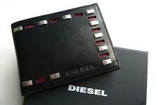 DIESEL cloutées en cuir noir Portefeuille Porte-monnaie dans boîte détient notes cartes