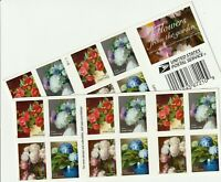 US #5237-40 FLOWERS FROM THE GARDEN (2017) - Booklet Pane, 20 Forever Stamps MNH