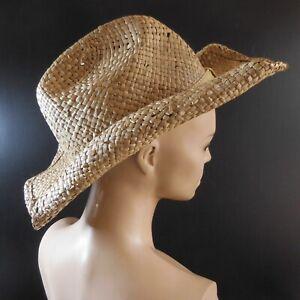 Chapeau paille coiffe vintage mode tradition femme homme fait main N7080