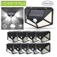 10Pack 100 LED Solar Light  Motion Sensor Garden Patio Security Lamp Waterproof