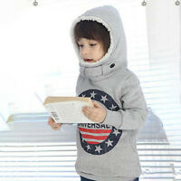 Toddler Kids Girls Boys Cartoon Hoodies T-shirts Sweatshirt Pullover Jumper 2-9Y