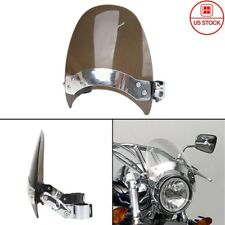 Motorcycle Accessories & Parts Motorcycle Windscreen Windshield Front Glass Defector W/ Black Bracket Holder Screws For Yamaha Cruiser Vmax1200 Vmax V-max 1200 Traveling Windscreens & Wind Deflectors