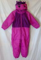Girls Regatta Dark Pink Unicorn Hooded Fleece Lined Warm Snow Suit Age 2-3 Years