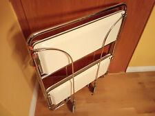Bremshey Dinett Servierwagen Teewagen weiß/chrom klappbar1970er teetable trolley