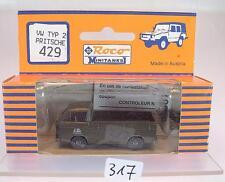 Roco Minitanks 1/87 No. 429 VW Volkswagen T3 Pritsche US Army Militär I OVP #317