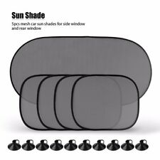 5Pcs Car Window Sun Shade Visor Screen Protector Kids Rear Side Blind Black