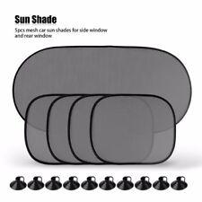 5 Pcs Car Window Sun Shade Visor Screen Protector Kids Rear Side Blind Black UK