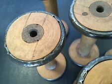 Vintage wooden industrial textile bobbins spools Spindle factory Mill X 1