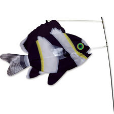 SWIMMING FISH-Black & White Fish Wind Diva-Weather Vane by Premier Designs