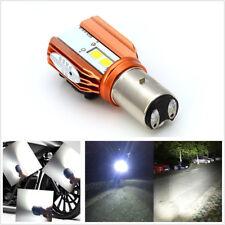 12V 20W Motorcycle BA20D LED COB White 6000K Headlight Hi/Lo Lamp Fog Light DRL