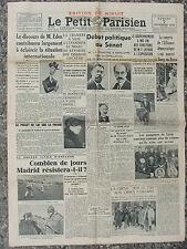 Le Petit Parisien (7 nov 1936) Gangsters Lyon - Madrid résiste - Usines Panhard