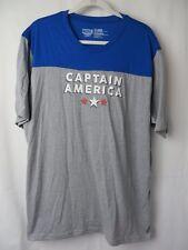 Marvel Captain America Adult T Shirt Short Sleeve Crew Blue Gray XL #7386