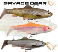 Savage Gear 4D Rattle Trout Shad Predator Lure Fishing Paddle Tail Line Crazy UK