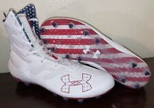 Under Armour Highlight MC Lmtd Edition USA Football Cleats 3020267-103 Sz 12.5