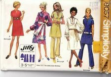 Simplicity Sewing Pattern Jiffy Boho Dress Trousers 16 9057 70s Vintage UNCUT