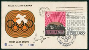MayfairStamps Mexico 1968 Summer Games First Day Cover wwp80615