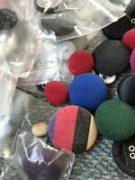 Cloth Buttons 82 Count All Sizes Colors Bagful Sewing Crafts DIY New/used
