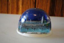 Vtg Snow Dome Globe Souvenir London Bridge Parliament Snowdome Snowglobe