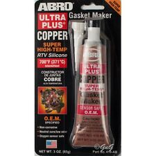 ABRO RTV SILICONE GASKET MAKER Brown SUPER HIGH TEMP 371 Degree SEALANT 85G TUBE
