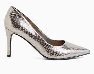 Torrid Women's SZ 10.5 Wide Pewter Pointed Toe 4 Inch Heel Pumps NIB