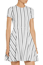 ~ NWT OPENING CEREMONY BLACK & WHITE STRIPED FLARED SKIRT CLOS DRESS ~ M