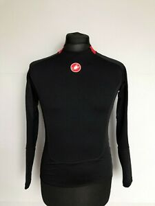CASTELLI Prosecco Jersey Long Sleeve Rosso Corsa Base Layer Black – Size S